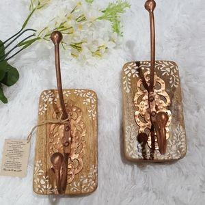 Two Bohemian Copper Hooks. NWT